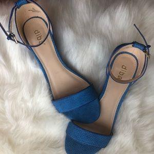 Diba royal blue wedge sandals